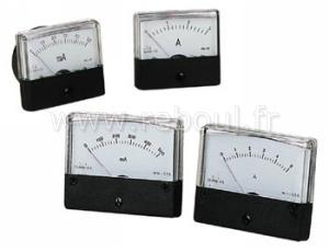 composants indicateurs de process velleman aim6010a amperemetre analogique de tableau 10a cc. Black Bedroom Furniture Sets. Home Design Ideas